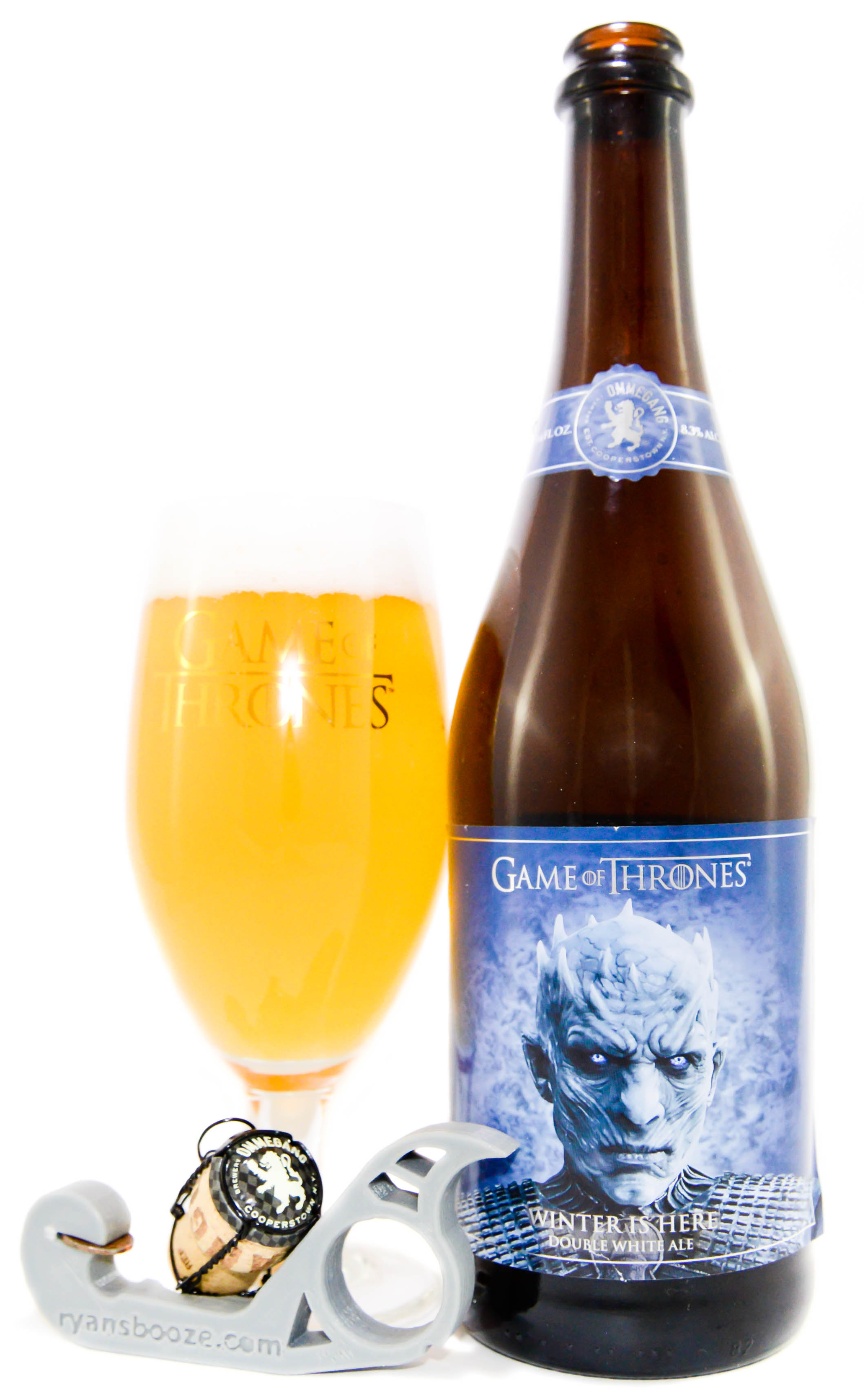 """ommegang game of thrones /""""winter is here/"""" double white ale beer bottle only"""